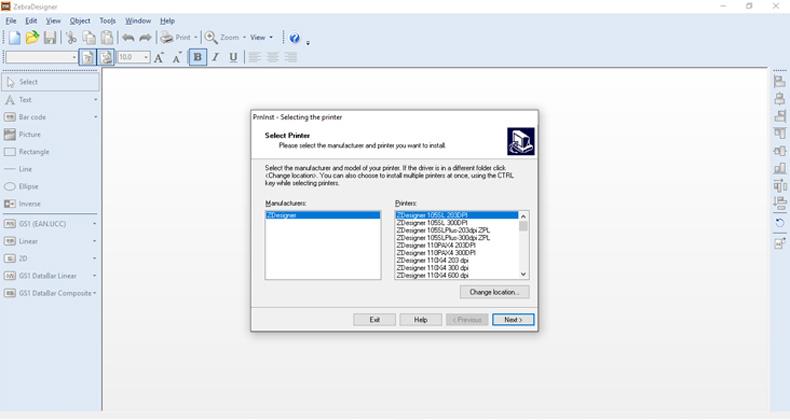 درایور های نرمافزار طراحی برچسب ZebraDesigner